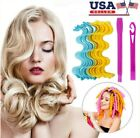 36Pcs 25 65cm Water Wave Magic Curlers Formers Leverage Spiral Hairdressing Tool