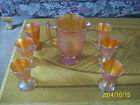 Carnival Glass Crackle Marigold Pitcher Jeanette Glass Company