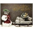 Victorian Trading Co Tabby Kitty Cat w Packages Christmas Cards Pack of 10