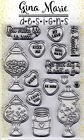 Gina Marie clear unmounted cling stamp set Valentine candy