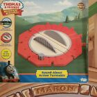 THOMAS  FRIENDS WOODEN RAILWAY ROUND ABOUT ACTION TURNTABLE RARE 2007