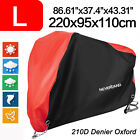 L Motorcycle 210D Cover Waterproof Outdoor Protect For 150CC Scooter Street Red
