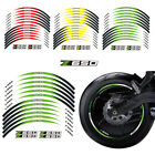 Various colors Wheel Decals Reflective Stickers Rim Stripes For Kawasaki Z650