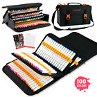 Magicfly 100 Colors Double ended Alcohol Markers Dual tip Markers with Case Card
