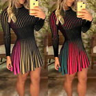Women Lady Sexy Long Sleeve Mini Dress Evening Party Cocktail Club  Casual Dress