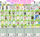 Cricut Cartridges for Sale + FREE Universal Keypad Overlay  12x12 Cutting Mat