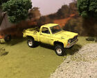 76 GMC Rusty Weathered Barn Find Lifted 4x4 1/64 Diecast Custom Truck Chevy K10