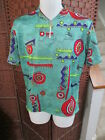 Vintage Giordana Cycling Jersey Size 5 Large All Over Shapes Pattern 1 4 Zip