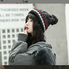 Winter Thermal Cable Knitted Bobble Hat Fleece Lining Women Men Pom Wooly Cap