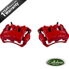 Front Red Brake Calipers Pair For NISSAN FRONTIER SUZUKI EQUATOR 2WD 4 CYL 25L