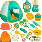 Kids Camping Tent Set Camping Pretend Play Kit for Boys Girls Birth Xmas Gift