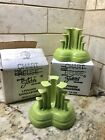 Fiesta Tripod Pyramid Candle Holder Pair Chartreuse NIB 1st Quality