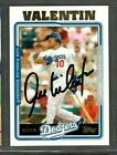 2005 Topps Chrome Dodgers #UH7 Jose Valentin Baseball Card Signed Autograph