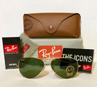 Guarantee 100 Authentic Ray Ban Aviator RB3025 L0205 Sunglasses Green 58mm Lens