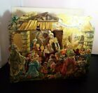 Antique Pop Up Nativity Christmas Manger Die Cut Religious Card Gloria Germany