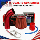 Air Intake Kit Red Pipe Diameter 3 +Cold Air Intake Filter+ Clamp+ Accessories