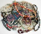 SALE Huge Lot 32 Necklaces Beads Glass Crystals Lucite Rhinestones Some Signed