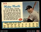 1962 Post Cereal #5 Mickey Mantle Post Ad Yankees 3 - VG