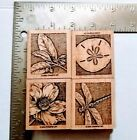STAMPIN UP NATURES WONDERS RUBBER STAMPS 2002 SAND DOLLAR DRAGONFLY FLOWER
