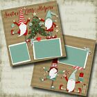 Santas Little Helpers Christmas Premade Scrapbook Pages EZ Layout 4468