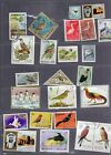 100 BIRD STAMPS packet of lightly hinged mid 60s  prior used