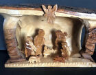 Olive Wood Stable Nativity Set from the Holy Land Hand Carved Rustic Gift New
