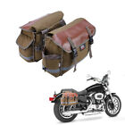 Motorcycle Bike Saddlebags Tail Bags Pannier Equine Back Pack For Sportster Dyna