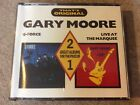 Very Rare Gary Moore G-Force & Live At The Marquee 2 CD Fatbox (1988, TFO2 1/2)