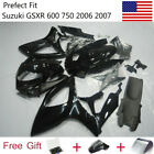 Gloss Black Bodywork Fairing Kit for Suzuki GSXR600 GSX-R750 2006 2007 w/Bolts