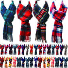 For Womens Mens 100 Cashmere Scotland Made Plaid check Warm Scarves Wool Scarf