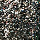 Silver Sequins Embroidered Stretch Velvet Rodeo Fabric Sold By The Yard