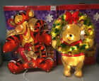 TWO Glitter Flow Sculpted Lighted Figures 19 Winnie the Pooh  Tigger Christmas