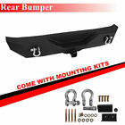 For 1987 2006 Jeep Wrangler TJ YJ Steel Black Textured Rear Bumper With D ring