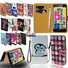 Flip Leather Card Wallet Stand Cover Phone Case For Nokia Smartphones + Strap