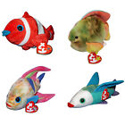 Ty Beanie Baby Lot of 4, Aruba, Coral, Jester and Propeller MWMT