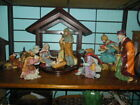 Large Eight Piece Nativity Set Beautiful Colors Flowing Robes 11 inches Tall