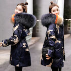 Women Camouflage Big Fur Collar Hooded Jacket Outdoor Outwear Warm Quilted Coat