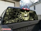 Skull Grain Rear Window Graphic Decal See ThroughTint Sticker SUV Jeep 086