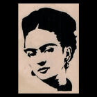 FRIDA KAHLO Rubber Stamp Frida Silhouette Portrait Mexican Artist Wood Mounted