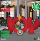 Huge Gemmy 85 Ft Nativity Joy Airblown Christmas Inflatable Jesus Mary Joesph