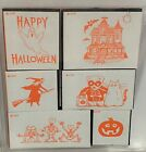 HALLOWEEN Witch Haunted House Foam Rubber Stamps Set