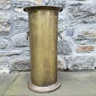 Vintage Brass Umbrella Stand with Lion Head Pulls 21 Tall
