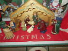 Complete 10 Piece Childrens Nativity Set O Holy Night Plus Hand Made Stable