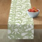 Table Runner Gum Tree Green Sage Flowers Foliage Forest Native Cotton Sateen
