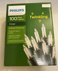100 Ct Twinkling Clear Mini Light String w Green Wire Indoor Outdoor 247 ft