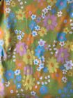 Vintage Groovy Floral Daisy Pacific Twin Flat Sheet MOD FLOWER POWER
