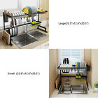 Over Sink Dish Drying Rack Stainless Steel Kitchen Shelf Drain Rack Drainer Tray