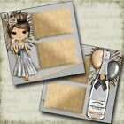 New Years Diva Brunette 2 Premade Scrapbook Pages EZ Layout 4566