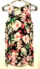 Womens Floral Print Longline Top Who What Wear Black Pink