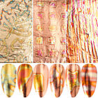 Gold Nail Foil Starry Transfer Slider Nail Art Stickers Decals Holographic